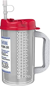 32 oz W.E. Insulated Cold Drink Hospital Mug with Red Lid - Water Essential Travel Mug