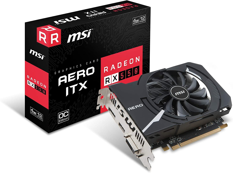 MSI Radeon RX 550 Aero ITX 4GB GDDR5 Graphics Card