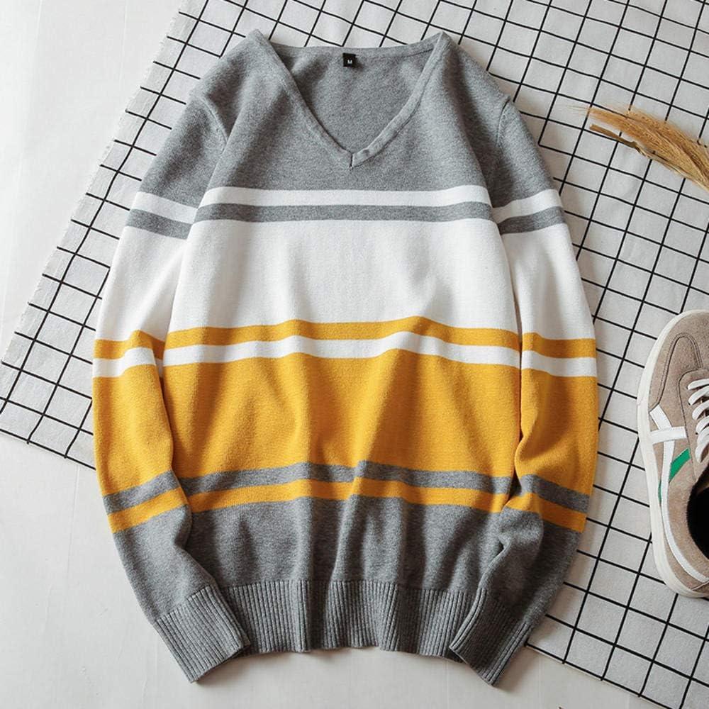 Suéter para Hombre con Cuello en V 100% algodón Jerseys Lana Fina ...