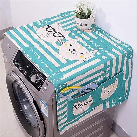 Tapa lavadora Tambor de algodón y lino Lavadora Cubierta de tela ...