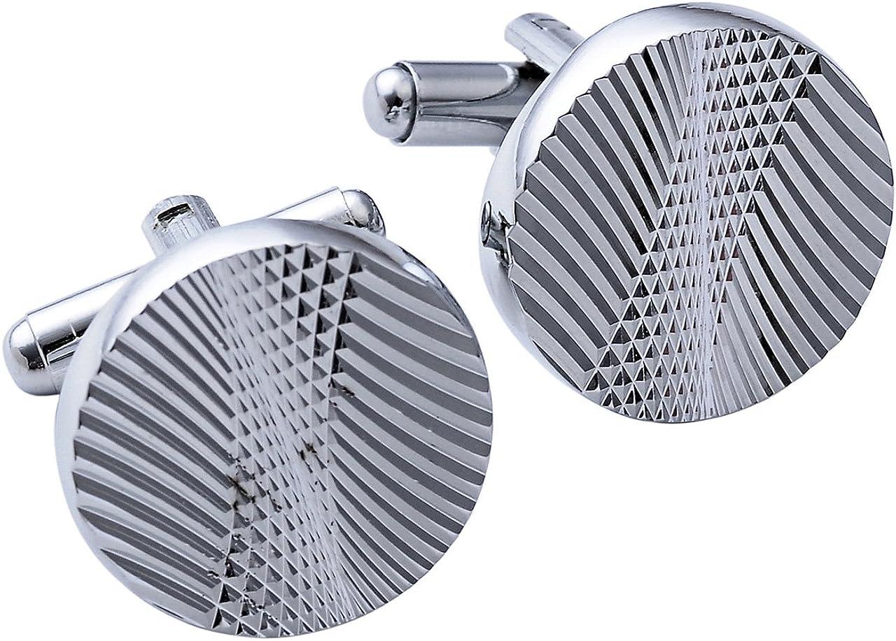 PiercingJ Lot de 4/paires de boutons de manchettes en acier inoxydable pour homme Argent/é