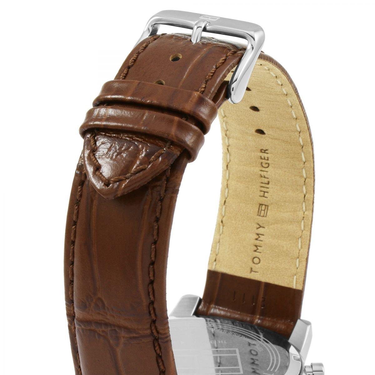 Tommy Hilfiger Reloj Multiesfera para Hombre de Cuarzo con Correa en Cuero 1791400: Amazon.es: Relojes