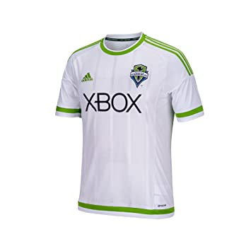 best service c28ce 168a0 Adidas Seattle Sounders Youth Secondary Replica Jersey (White)