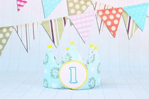 Decoración de cumpleaños corona de tela de algodón para ...