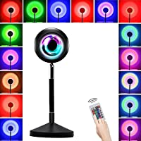 Sunset Projection Lamp,180 Degree Rotation Projector Led Light,16 Colors Romantic Visual Modern Floor Stand Projection…