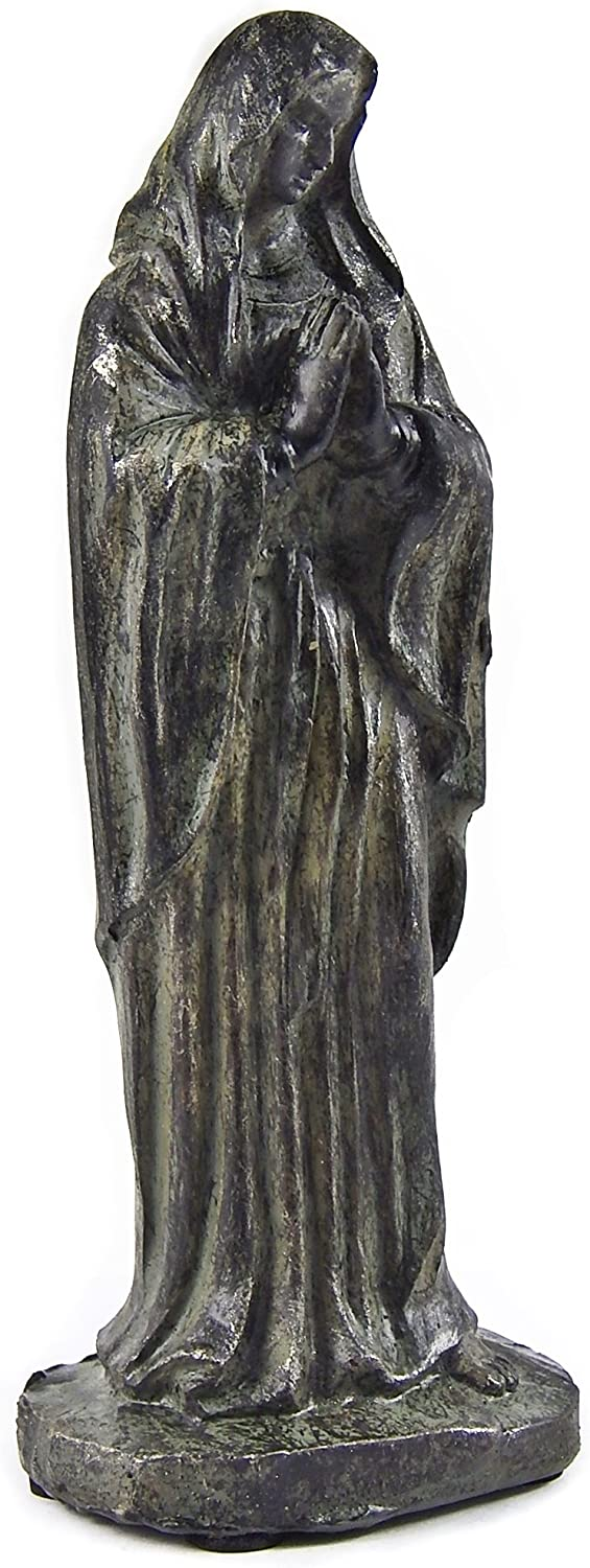 Bellaa 22753 Blessed Virgin Mary Statue Antiques Bronz Finish Sculptures 5 inch Giveaway