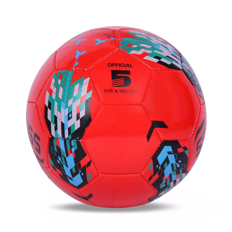 Strauss New Arrow Football,Size 5 (Red)