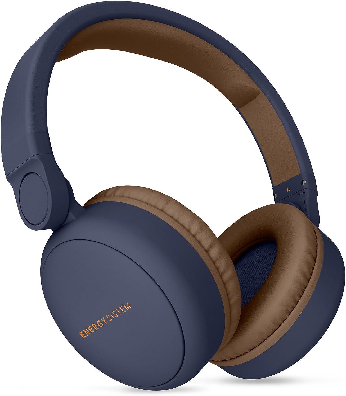 Energy Headphones 2 Auriculares inalámbricos con Bluetooth (Circumaural, Plegable, bateria Recargable,Audio-in) Azul