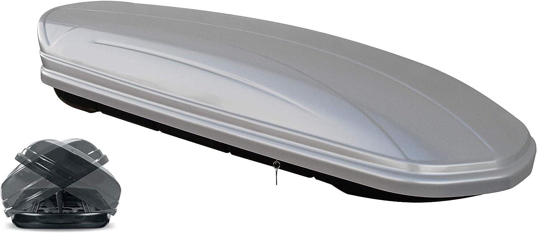 B9//8W ab 15 Avant VDP Dachbox MAA460 460 Liter Duo beidseitig aufklappbar Silber Dachtr/äger//Relingtr/äger KING1 kompatibel mit Audi A4 5 T/ürer