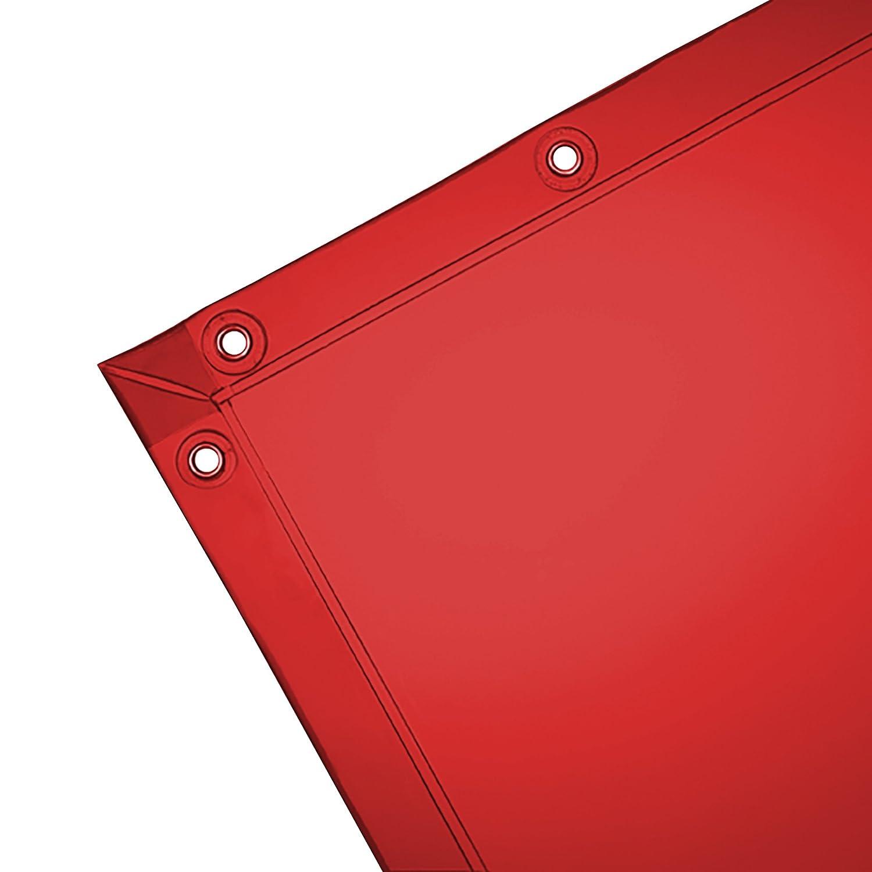 Orange Vinyl Curtain 6 x 10 feet Wilson 14-Mil See-Thru Welding Curtain 36278 1 // Case Standard Grommets
