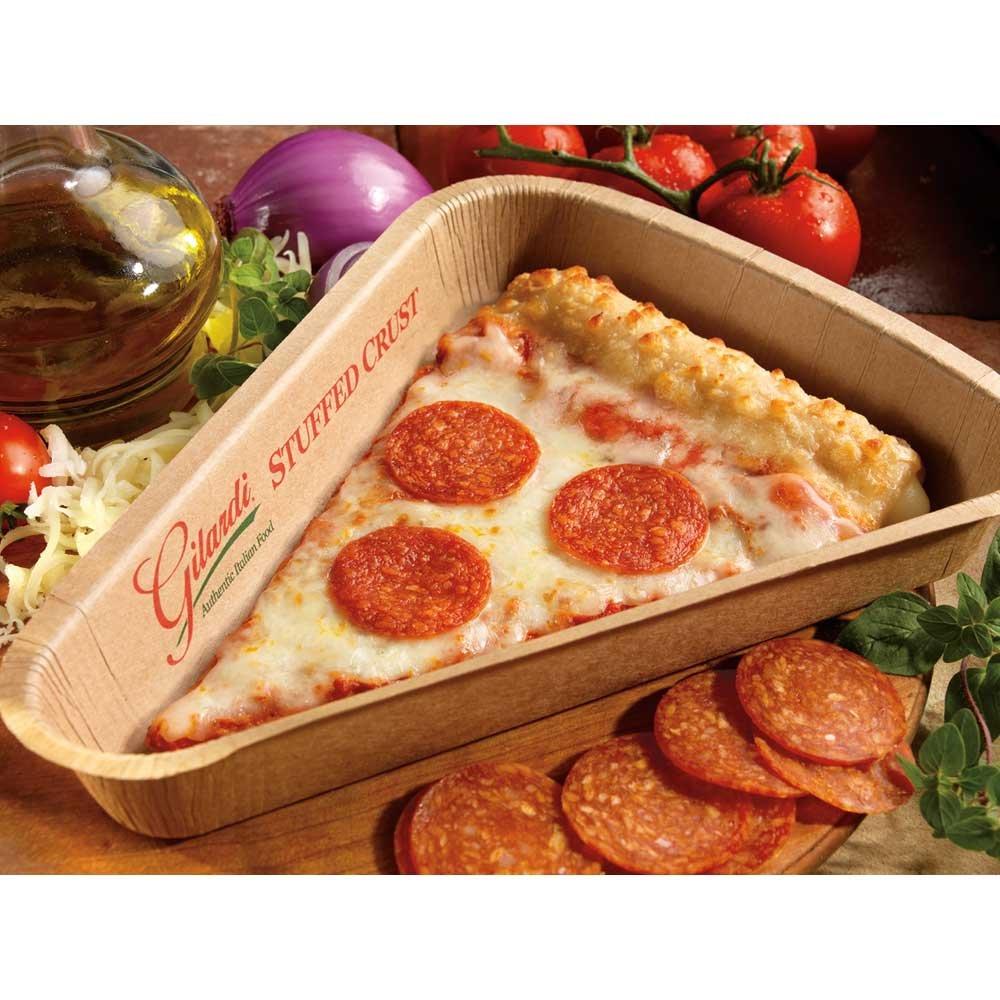 Gilardi Medium Stuffed Crust Whole Grain Sliced Turkey Pepperoni Pizza, 4.5 Ounce -- 96 per case. by ConAgra
