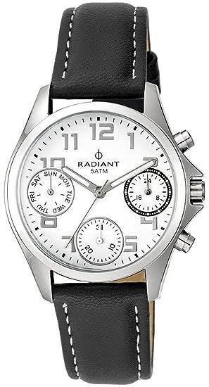 Reloj Radiant RA385706 Niño Piel Negro Comunión: Radiant New: Amazon.es: Relojes