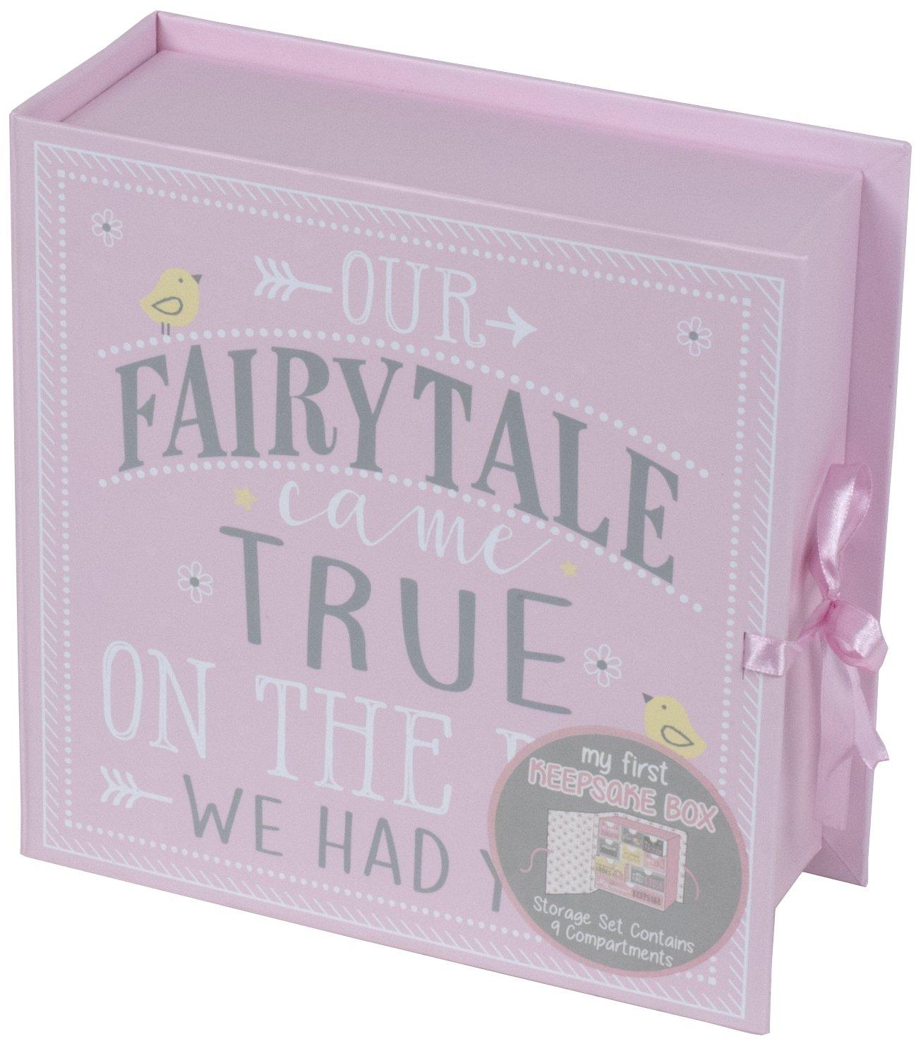 Baby Milestone Keepsake Storage Box: Track Treasured Memories Baby Girl Tri-Coastal Design K37430-66068