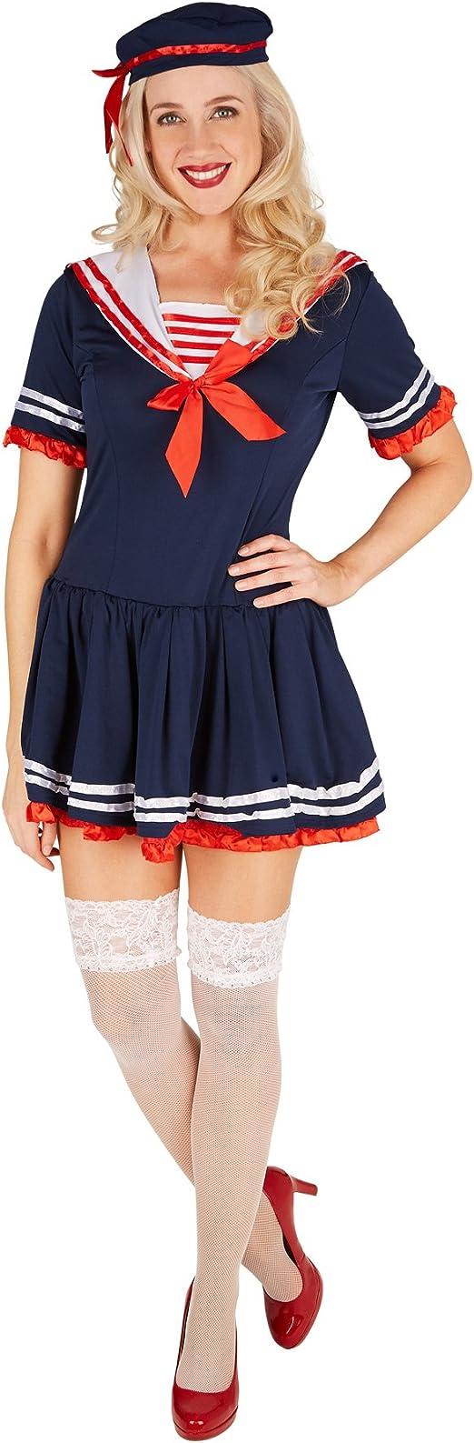 TecTake dressforfun Disfraz de Marinera para Mujer | Vestido Muy ...