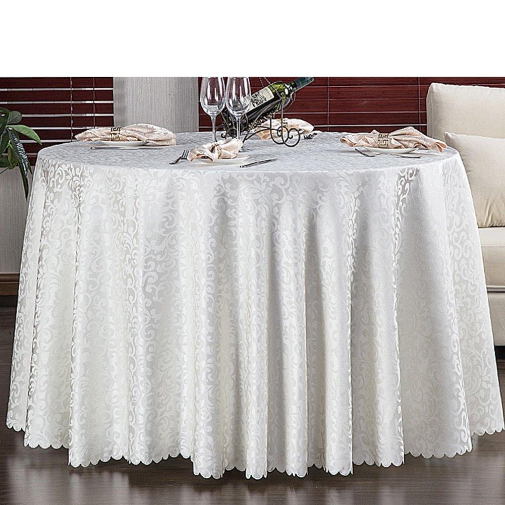 Round hotel tischtuch fabric restaurant dining tisch cover european style jacquard wallpaper-A Durchmesser280cm(110inch)