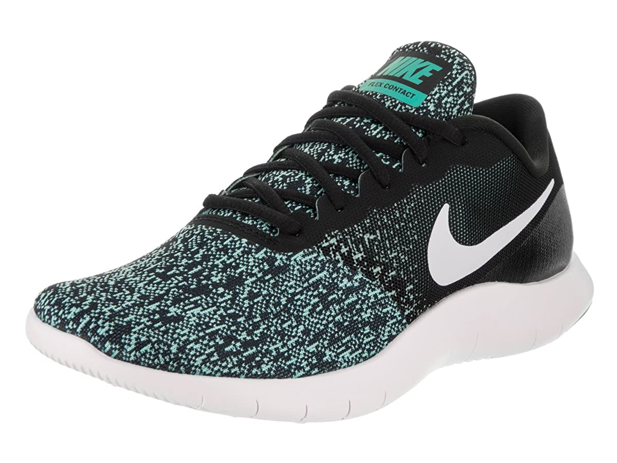 Nike Wmns Nike Flex Contact Sz 7 Womens Running Black/White-Light Aqua-Clear Jade Shoes