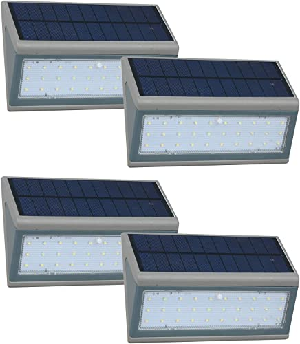 Solar Lights Outdoor, Wireless Motion Sensor Lights, IP65 Waterproof Wall Lights Security Lighting for Outdoor Garden, Patio, Yard, Deck, Garage, Driveway, Fence and so on 5W, 4Packs