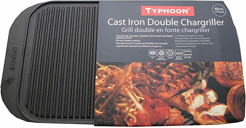 Typhoon Solutions Large Reversable Cast Iron Grill Plate