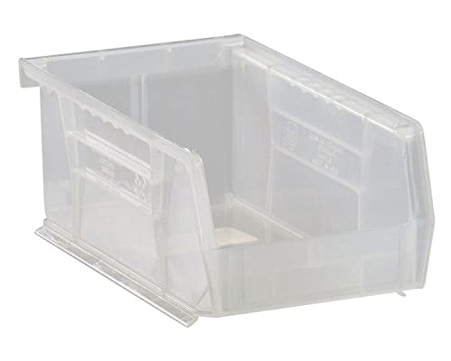 Quantum Storage K-QUS220CL-20 20-Pack Stack and Hang Plastic Bin Storage Containers, 7 x 4 x 3 , Clear