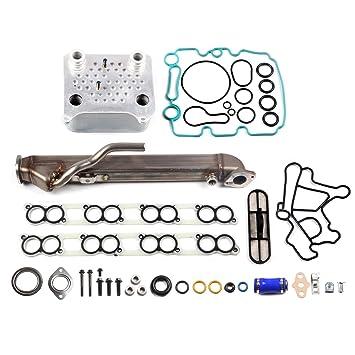 Upgraded EGR Cooler Kit W//Gaskets Fits 04-10 Ford 6.0L Power stroke Turbo Diesel