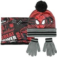 ARTESANIA CERDA Conjunto 3 Piezas Spiderman Set de Bufanda, Rojo (Rojo 02), One Size (Tamaño del fabricante:One Size…