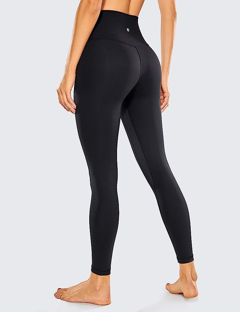 CRZ YOGA Womens Super High Waisted Leggings Tummy Control Yoga Pants-28 Inches