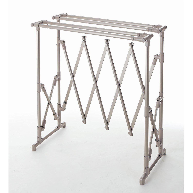 [ベルメゾン] 物干し 布団干し コンパクト 軽量 4枚 折りたたみ 伸縮 アルミ ふとん干し 完成品 日本製 シャンパンゴールド B079VY6P9C
