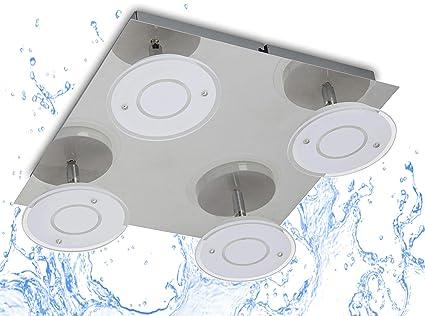 Trango 4-llama Luz de techo LED IP44 TG2113-04 Proyector de techo ...