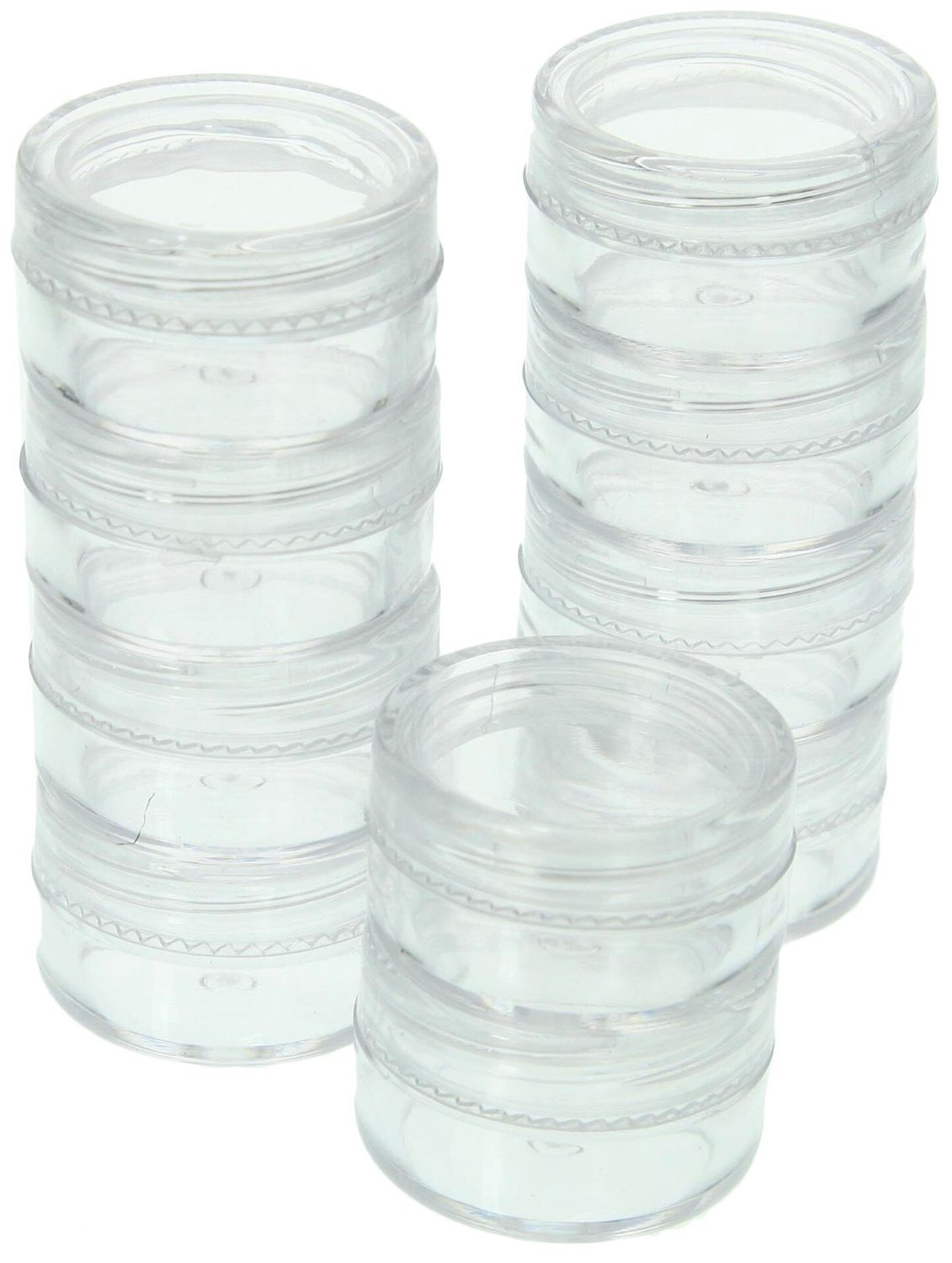 SE 87449BB 10-Piece Small Round Plastic Storage Container Set SDD2-87449BB