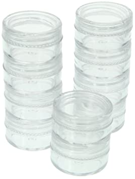 SE 87449BB 10 Piece Small Round Plastic Storage Container Set