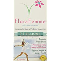 FloraFemme - Vaginal Probiotic Suppository - Clinical Strength, balances Yeast & Bacteria for Feminine Freshness! Helps Restore Vaginal Flora after Antibiotics + Supports BV and Candida Prevention