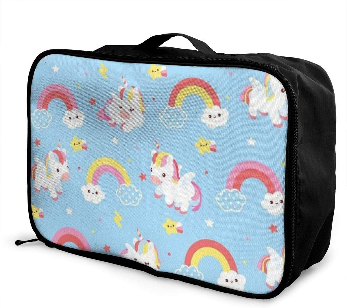 Collection-of-unicorns Travel Carry-on Luggage Weekender Bag Overnight Tote Flight Duffel In Trolley Handle