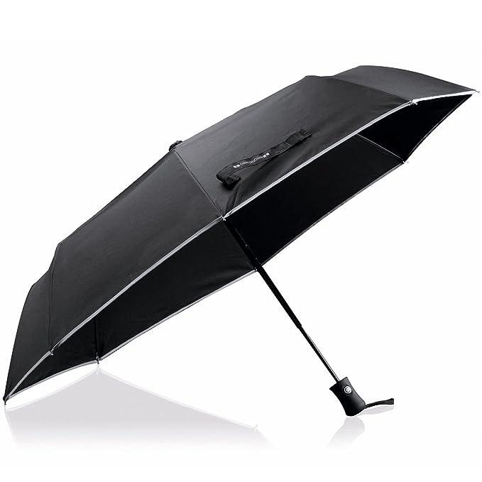 Paraguas plegable colección Antonio Miró color negro: Amazon ...