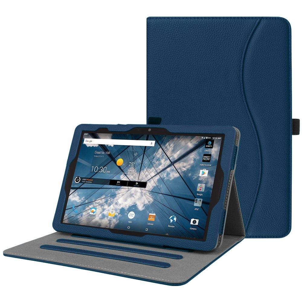 new concept fbd9c 34380 Fintie AT&T Primetime Tablet Case - [Multi-Angle Viewing] Folio Stand Cover  with Pocket, Auto Sleep/Wake for 2017 ATT Primetime/ZTE K92 Primetime 10