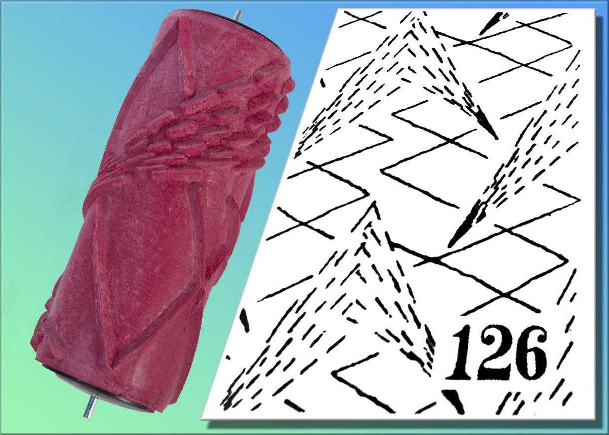 Abroller f/ür Strukturwalzen Malerwalzen 15cm Gabelbreite