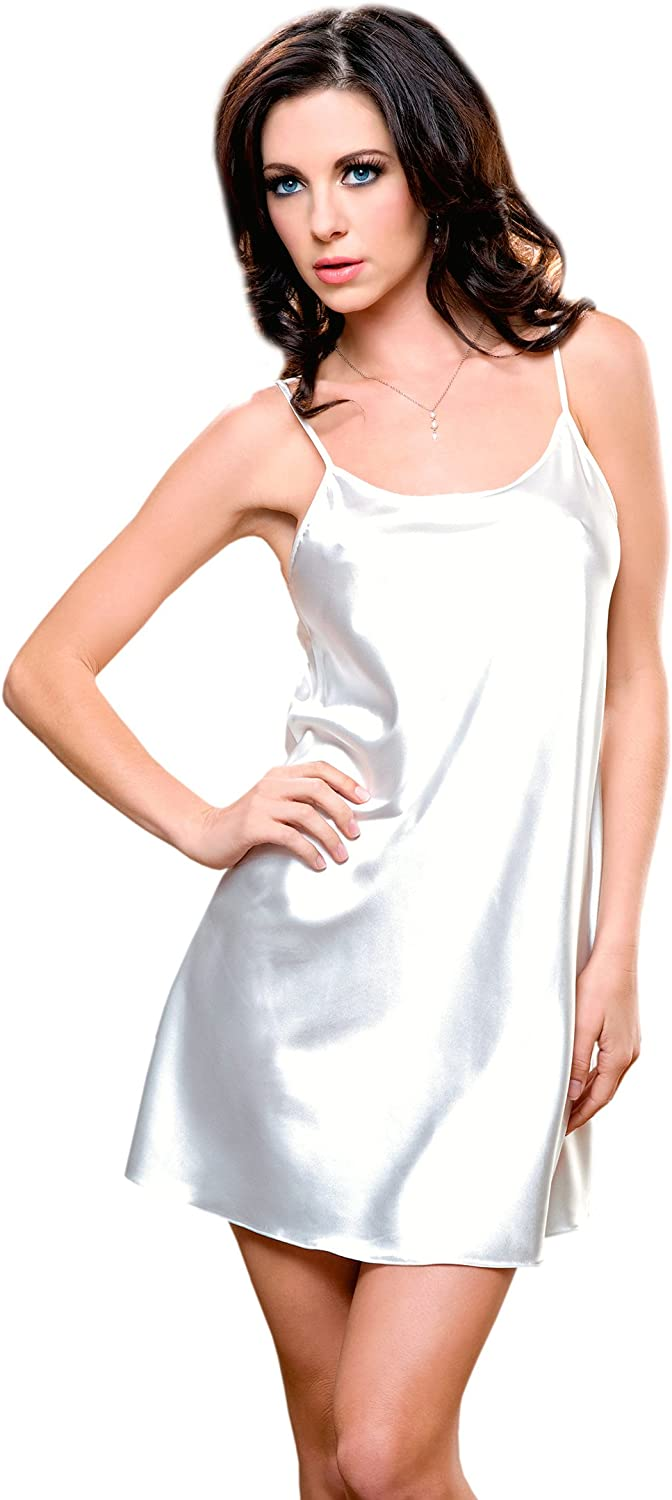iCollection Womens Satin Chemise
