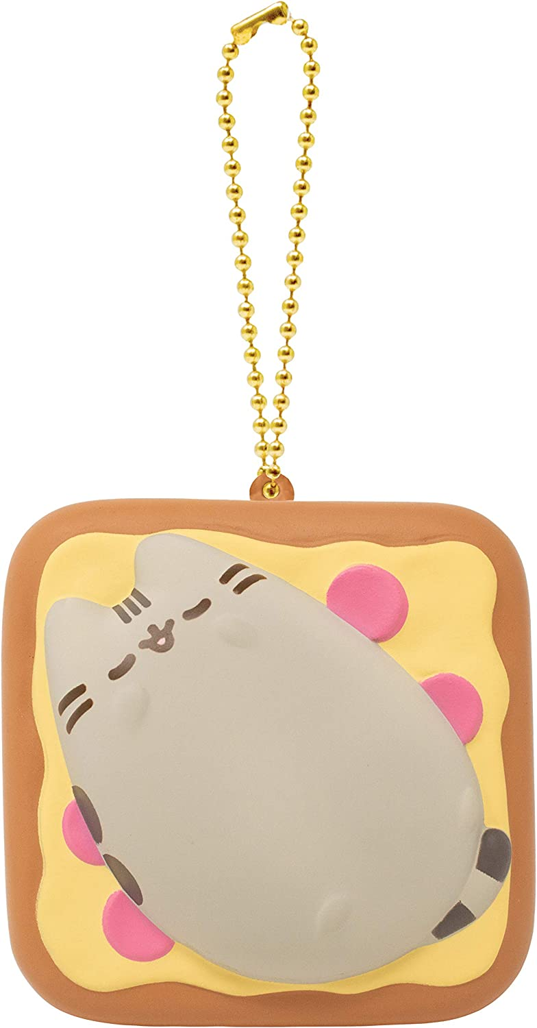 Hamee Pusheen Tabby Cat Junk Food Slow Rising Squishy Toy [Square Series] (Pizza) [Christmas Tree Ornaments, Gift Box, Party Favors, Gift Basket Filler, Stress Relief Toys]