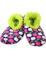 Womens Comfy Cozy Soft Bold and Beautiful Snoozies Ballerina Slippers