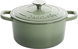 Crock Pot Artisan Round Enameled Cast Iron Dutch Oven, 7-Quart, Pistachio Green
