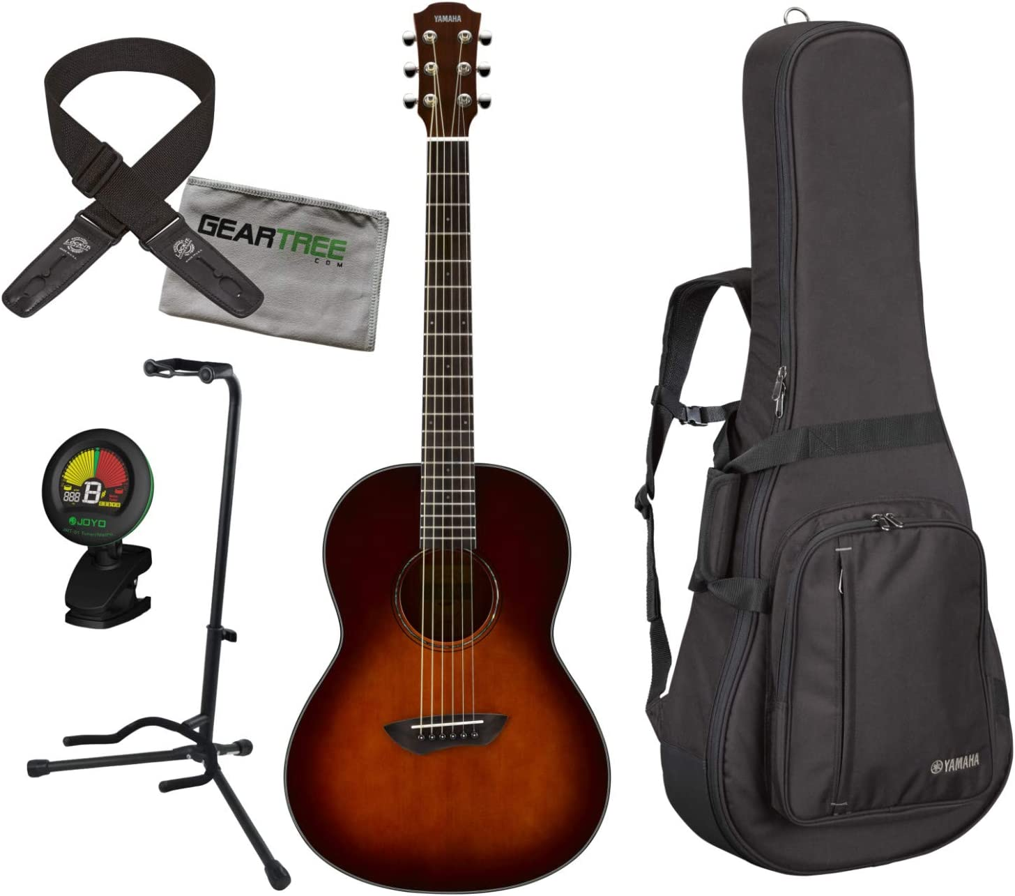 Yamaha CSF1M TBS - Guitarra acústica de tabaco, color marrón con ...
