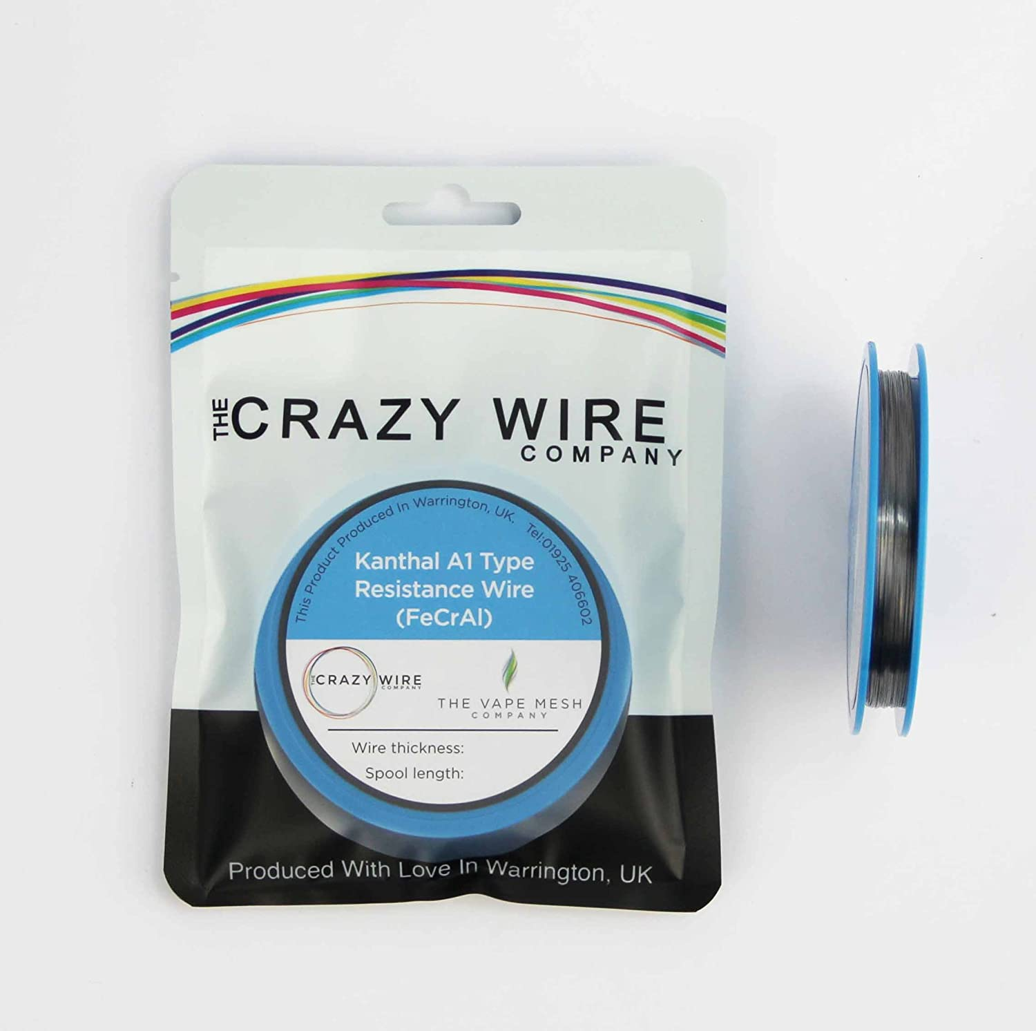 0.2mm (32AWG) - FeCrAl Alloy (Kanthal A1) Wire - 25 Metre Spool ...