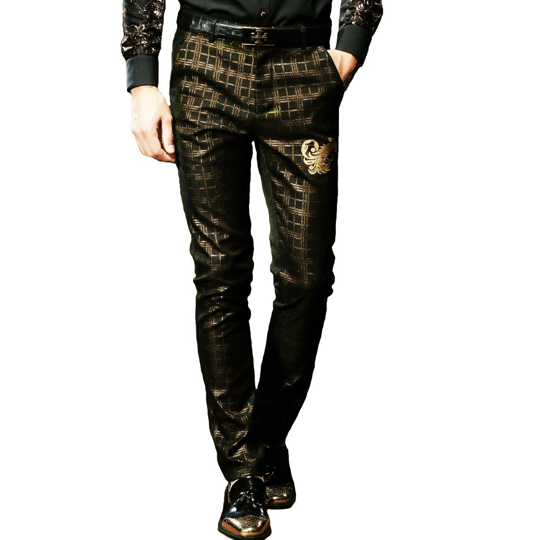 FANZHUAN Mens Casual Fashion Pant Wedding Pant Suits Mens Fashion Pants Slim Fashionable Pants for Men