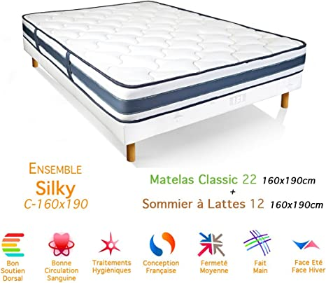 Silky Classic-colchón somier 22/12, 160 x 190 cm: Amazon.es ...