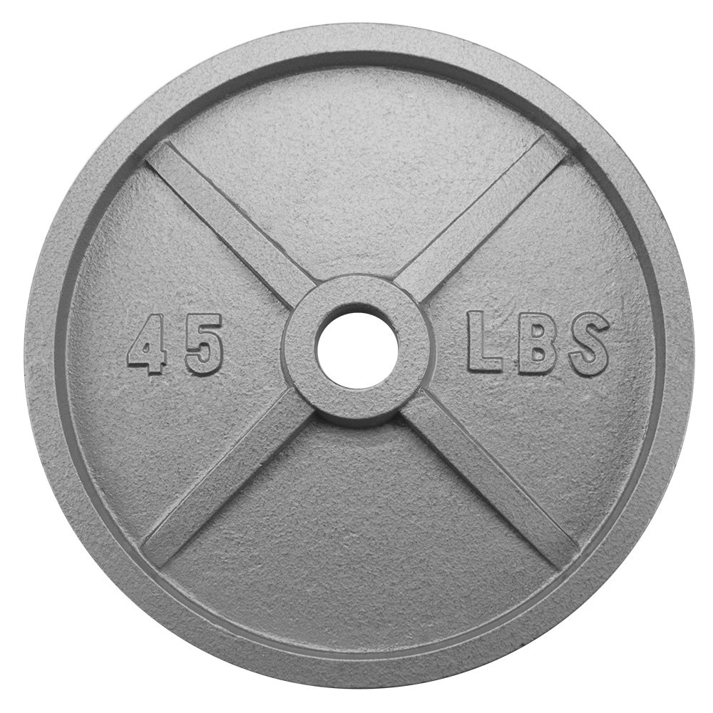 Crown Sporting Goods 2-inch Olympic Style Iron Weight Plate