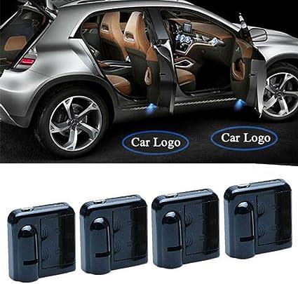 4 proyectores de luz láser, inalámbricos para puerta del coche ...