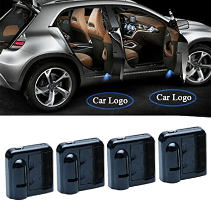 Auto LED Proyectores, 4 Auto Bienvenida Luz, Lámpara LED Lámpara ...