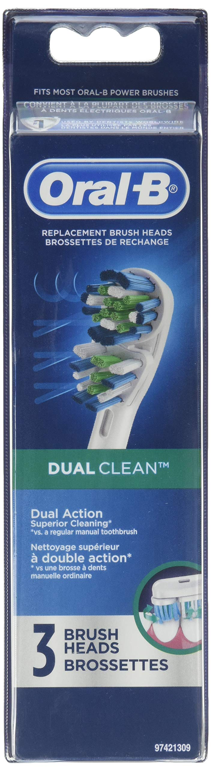 Oral-B Dual Clean 3 Replacement Brush Head