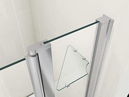 HNNHOME - Mampara de Ducha con Pivote de 180º Doble Panel Cristal ...