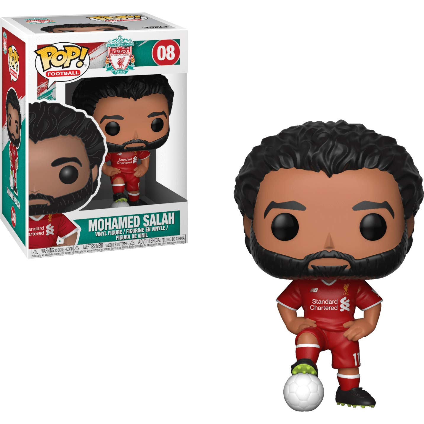 Liverpool Funko BCC9U24M Mohamed Salah Compatible PET Plastic Graphical Protector Bundle Football // Soccer Vinyl Figure /& 1 POP #008 // 29217 - B : x POP