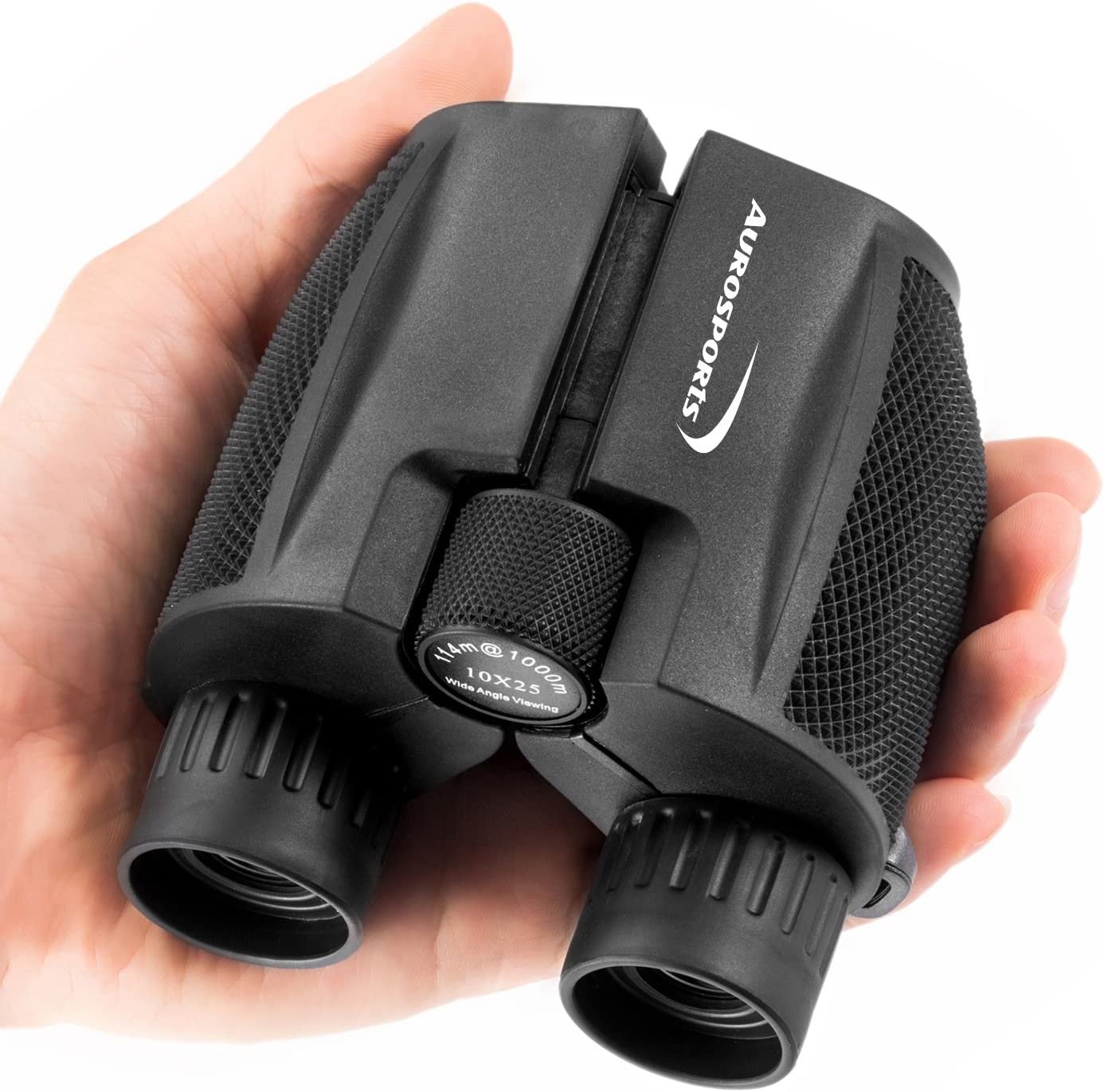 Aurosports 10x25 Folding High Powered Compact Night Vision Binoculars